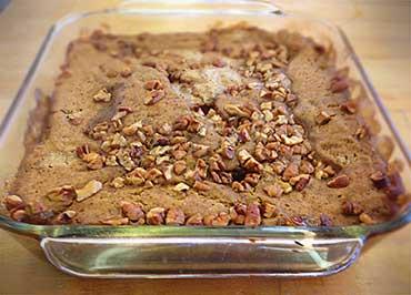 'Sweet Potato Pie' from the web at 'http://www.sunflourflour.com/images/pumpkin-pecan-cobbler-dessert.jpg'
