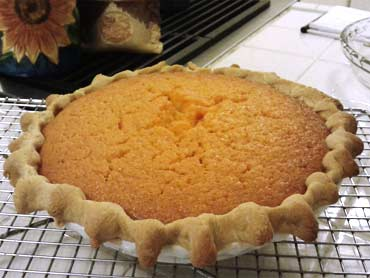 'Sweet Potato Pie' from the web at 'http://www.sunflourflour.com/images/sunflour-sweet-potato-pie.jpg'